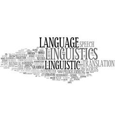 linguistics word cloud concept vector image