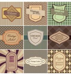 Set of vintage backgrounds vector image vector image