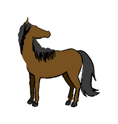 sorrel horse with white legs flat design vector image