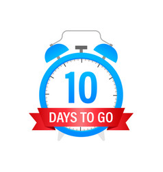 10 days to go flat icon stock vector