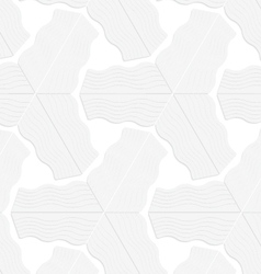 3D white striped triangular stars vector