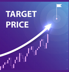 a white arrow indicates the purpose of the price vector image