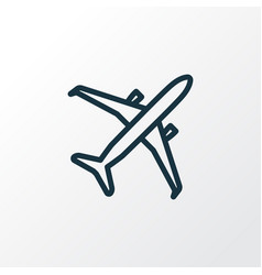 airplane outline symbol premium quality isolated vector image
