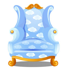 Armchair with texture clouds isolated on white vector