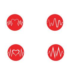 art design health medical heartbeat pulse vector image