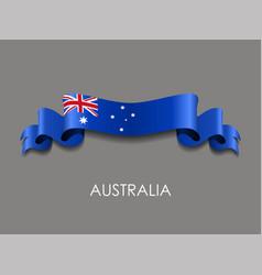 Australian flag wavy ribbon background vector