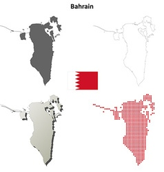 Bahrain outline map set vector image
