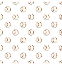 Baseball ball pattern cartoon style vector image