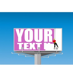 Billboard vector image