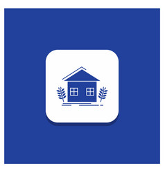 Blue round button for agriculture urban ecology vector