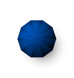 blue umbrella top view open parasol isolated vector image