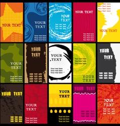 Business cards set V vector image vector image