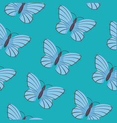 Butterfly seamless pattern summer vector