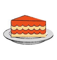 Cake draw vector