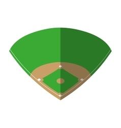 camp diamond baseball sport vector image