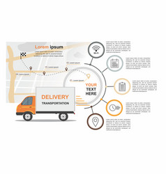 cargo delivery business infographic vector image