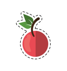 Cartoon fruit vegan nutrition icon vector