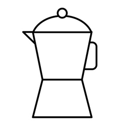 Coffee teacup isolated icon vector