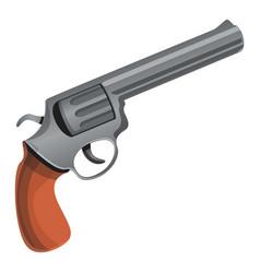 cowboy revolver icon cartoon style vector image