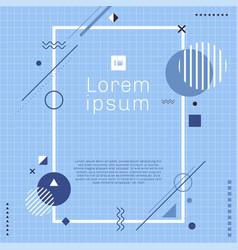 Creative template rectangle border frame blue vector
