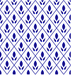 cute pattern blue and white vector image