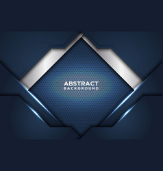 Dark abstract background with dark blue overlap vector