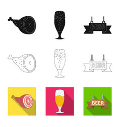 Design of pub and bar sign collection of vector