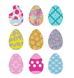 Easter eggs set Easter eggs on white background vector image