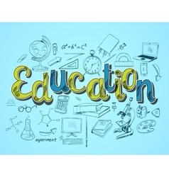 Education icon concept vector image
