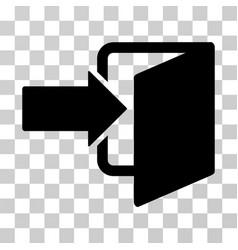 Exit door icon vector