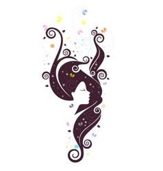 Fantasy girl 2 vector image