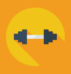 Flat modern design with shadow icon dumbbell vector