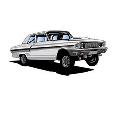 Ford-drag-racer vector