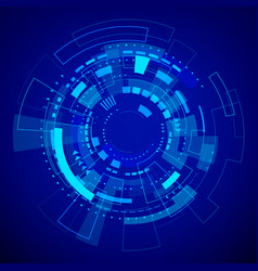 futuristic technology pattern blue abstract vector image