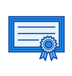 graduation certificate line icon vector image