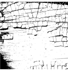 grunge craquelure Cracked texture white and black vector image