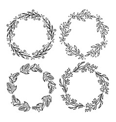 hand drawn laurels and wreat vector image