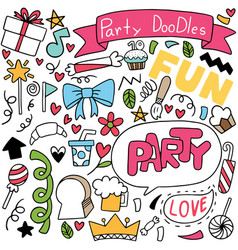 Hand drawn party doodle vector
