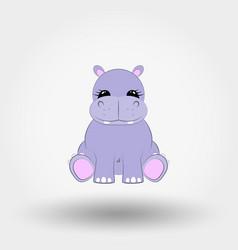 Hippo baicon flat vector