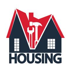 home repair service symbol vector image