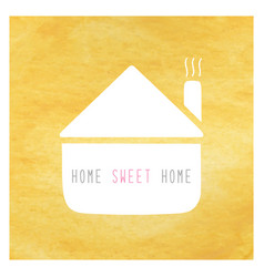Home sweet home greeting card1 vector