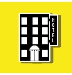 Hotel building design vector