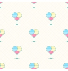 ice cream seamless pattern in modern flat vector image