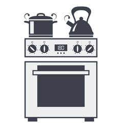 Icon of kitchen electric oven vector
