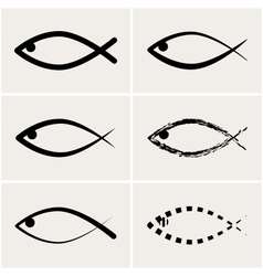 Icons fish vector