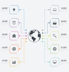 infographics 10 options vector image
