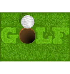 inscription golf vector image