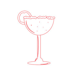 Isolated cocktail vector