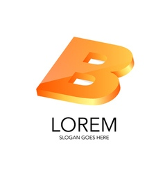 Literal style logo in 3D vector image