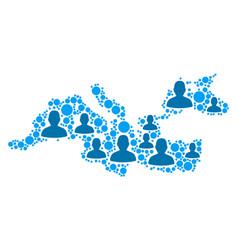 Mediterranean sea map population demographics vector